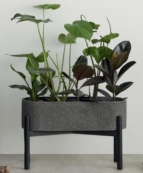 Jardinière design gris anthracite