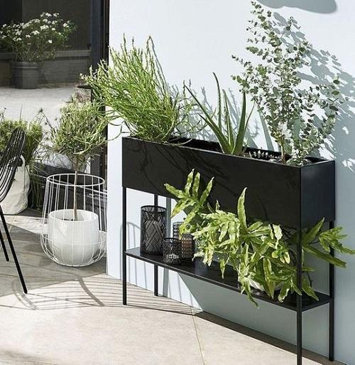 Jardinière design noire