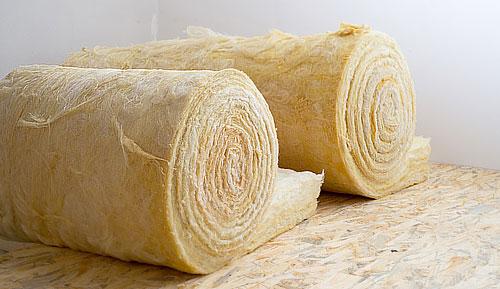 Rouleaux de laine de roche
