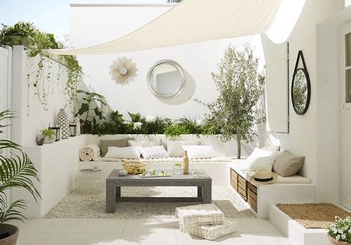 Terrasse blanche Leroy Merlin