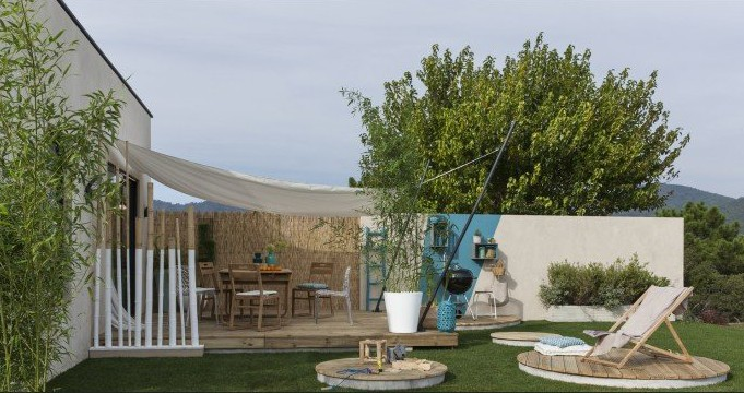 IMage jardin terrasse Leroy Merlin