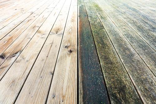 Nettoyage terrasse bois mousse