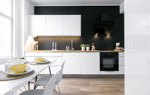 quelle couleur pour les murs d une cuisine blanche habitatpresto. Black Bedroom Furniture Sets. Home Design Ideas