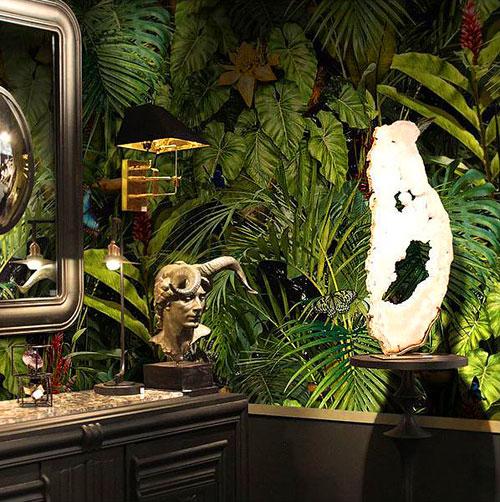 Papier peint Jungle salle de bains