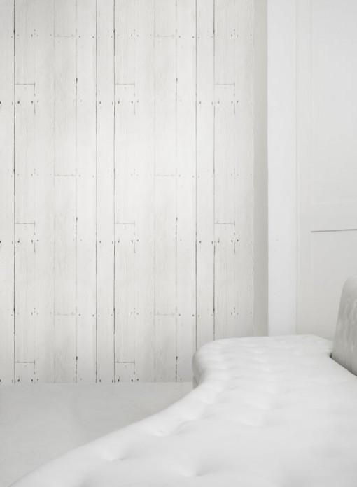 Clairer une pi ce avec le papier peint lumineux habitatpresto - Papier peint lambris blanc ...