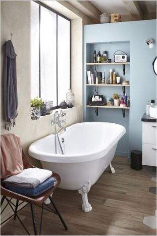 Salle de bain les tendances douche baignoire et robinetterie 2018 habitatpresto - Baignoire leroy merlin salle bain ...