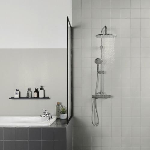 Salle de bains grise