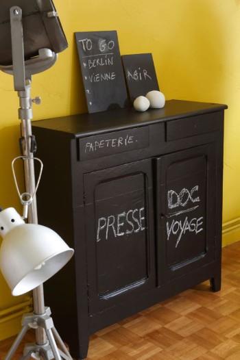 Id es peinture ardoise les prix et nos conseils - Peinture brun noir pour meuble ...