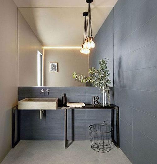 Peinture grise carrelage salle de bains