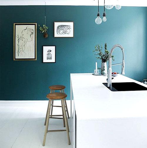 Peinture_cuisine_bleu. Le Bleu Canard ...