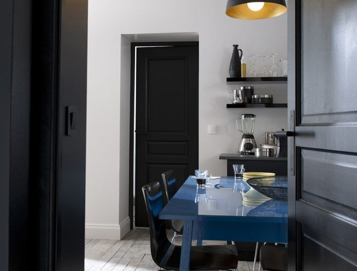 Id es peinture cuisine les tendances 2017 habitatpresto for Peindre mur cuisine en noir
