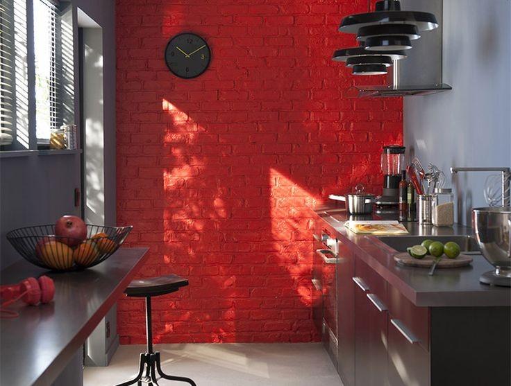Id es peinture cuisine les tendances 2017 habitatpresto for Repeindre un mur exterieur