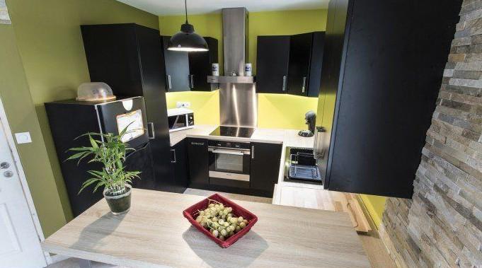D co peinture cuisine vert anis saint denis 1333 for Leroy merlin peinture cuisine