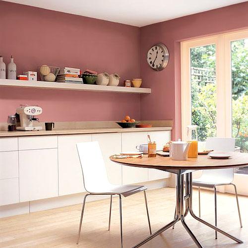 Superieur Peinture_cuisine_orange. Une Peinture Orange Pour Une Cuisine Chaleureuse.  Vu Sur Pinterest. Peinture_cuisine_rose
