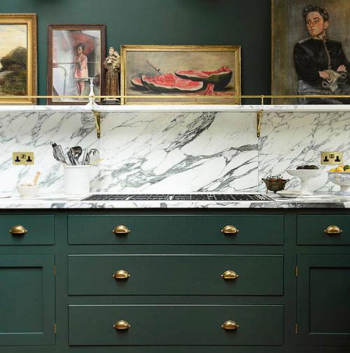Peinture de cuisine 6 couleurs tendances en 2019 - Peinture d armoire de cuisine ...