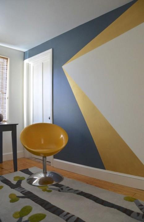 Inspiration peinture murale géométrique  Habitatpresto