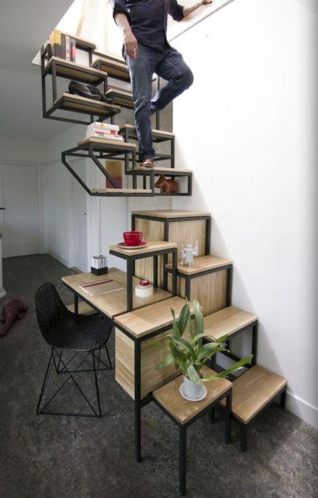 Exceptionnel Créer un coin bureau sous l'escalier | Habitatpresto JU23