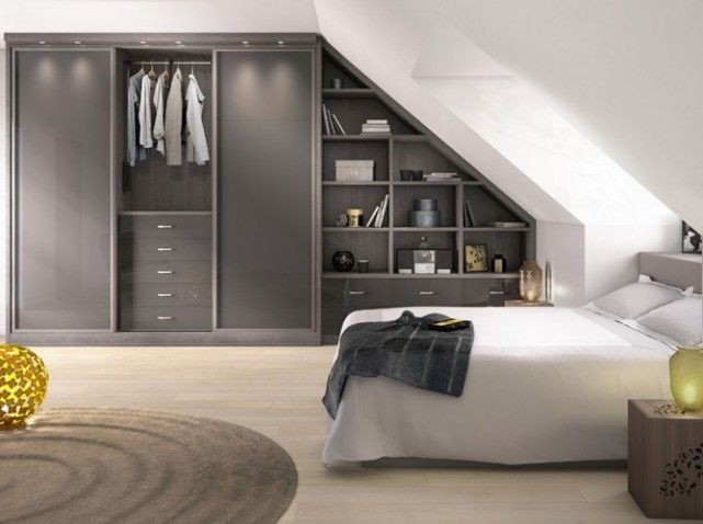 ranger avec un dressing sous pente. Black Bedroom Furniture Sets. Home Design Ideas