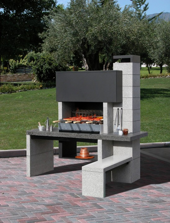 un barbecue fixe en pierre pour votre jardin habitatpresto. Black Bedroom Furniture Sets. Home Design Ideas
