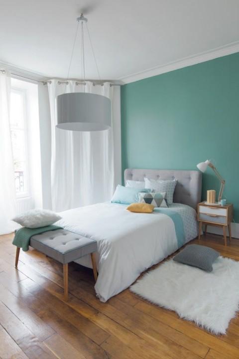 Tendance peintures printemps 2017 habitatpresto - Quel mur peindre en couleur dans une chambre ...
