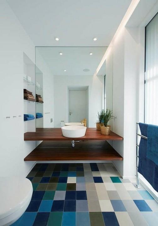 Choisir la couleur de sa salle de bain les tendances du moment - Salle de bain idee couleur ...