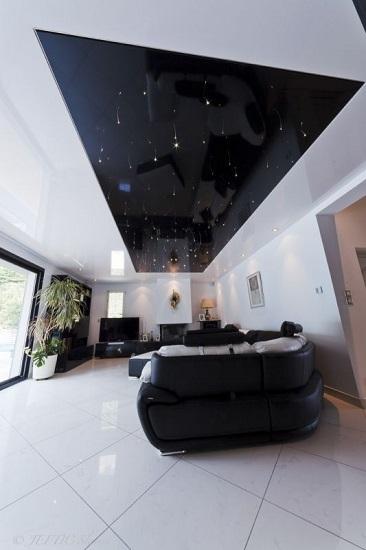 Plafond tendu étoilé