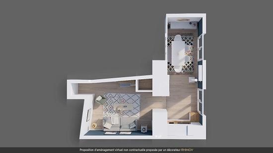 Plan 3D projet déco
