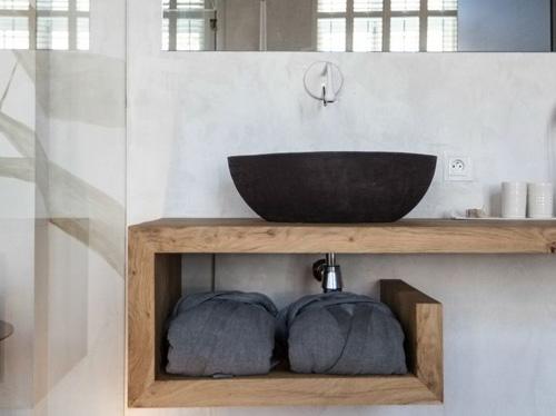 Meuble de vasque en bois