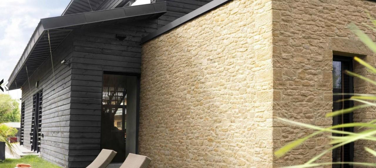 exemple facade plaquettes de parement