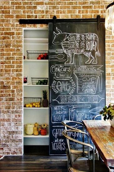 Porte coulissante placard de cuisine