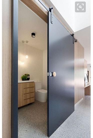 Porte coulissante salle d'eau