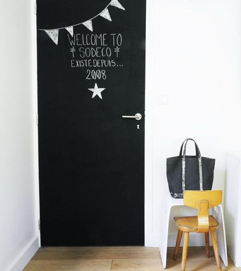 Porte peinture ardoise