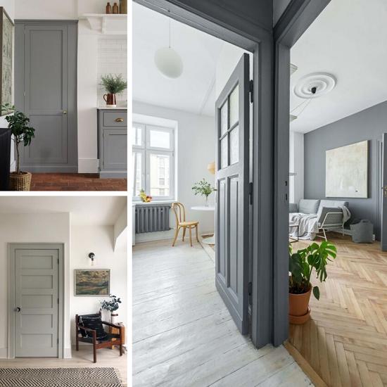 Peinture portes intérieures : 28 couleurs tendances et idées ...