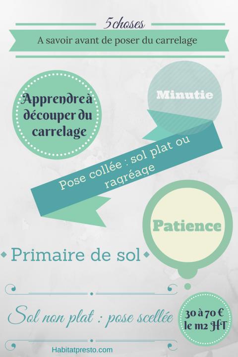 infographie pose carrelage
