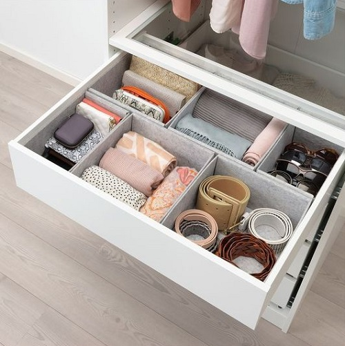 Rangement tiroir dressing