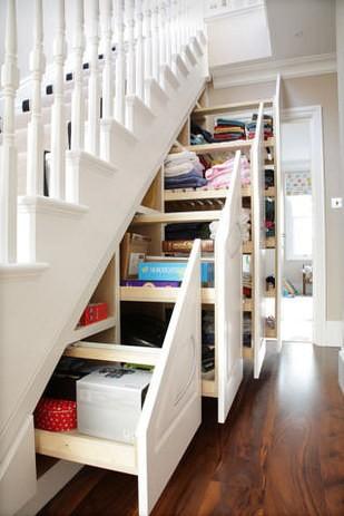 rangement escalier aménagement petits espace