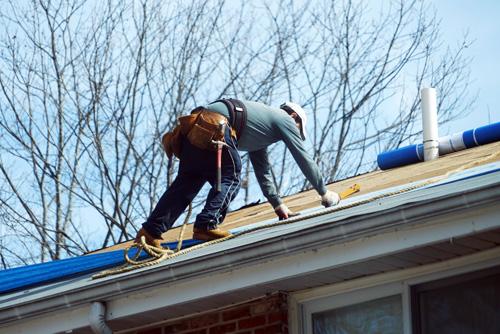 Réparation d'un toit