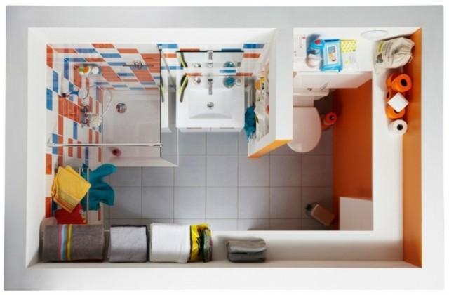 Petite salle de bain 4 astuces pour bien optimiser l - Idee deco salle de bain petite surface ...