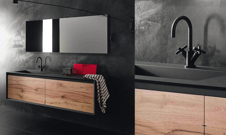 tendance bois pour la salle de bain habitatpresto. Black Bedroom Furniture Sets. Home Design Ideas
