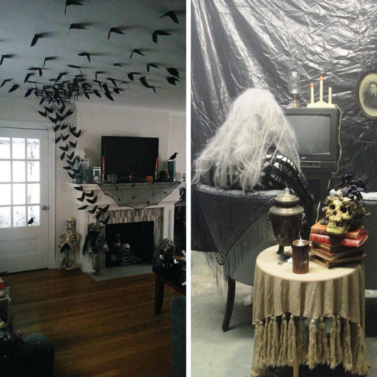 Salon halloween deco