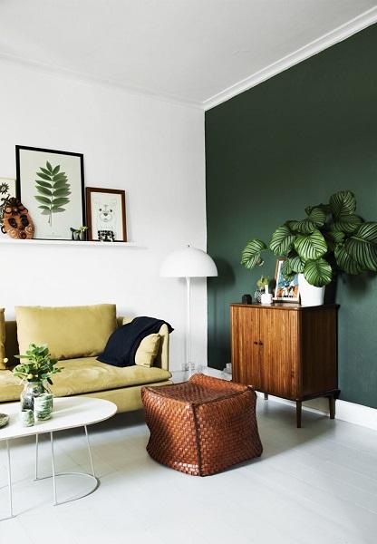 Salon vert émeraude