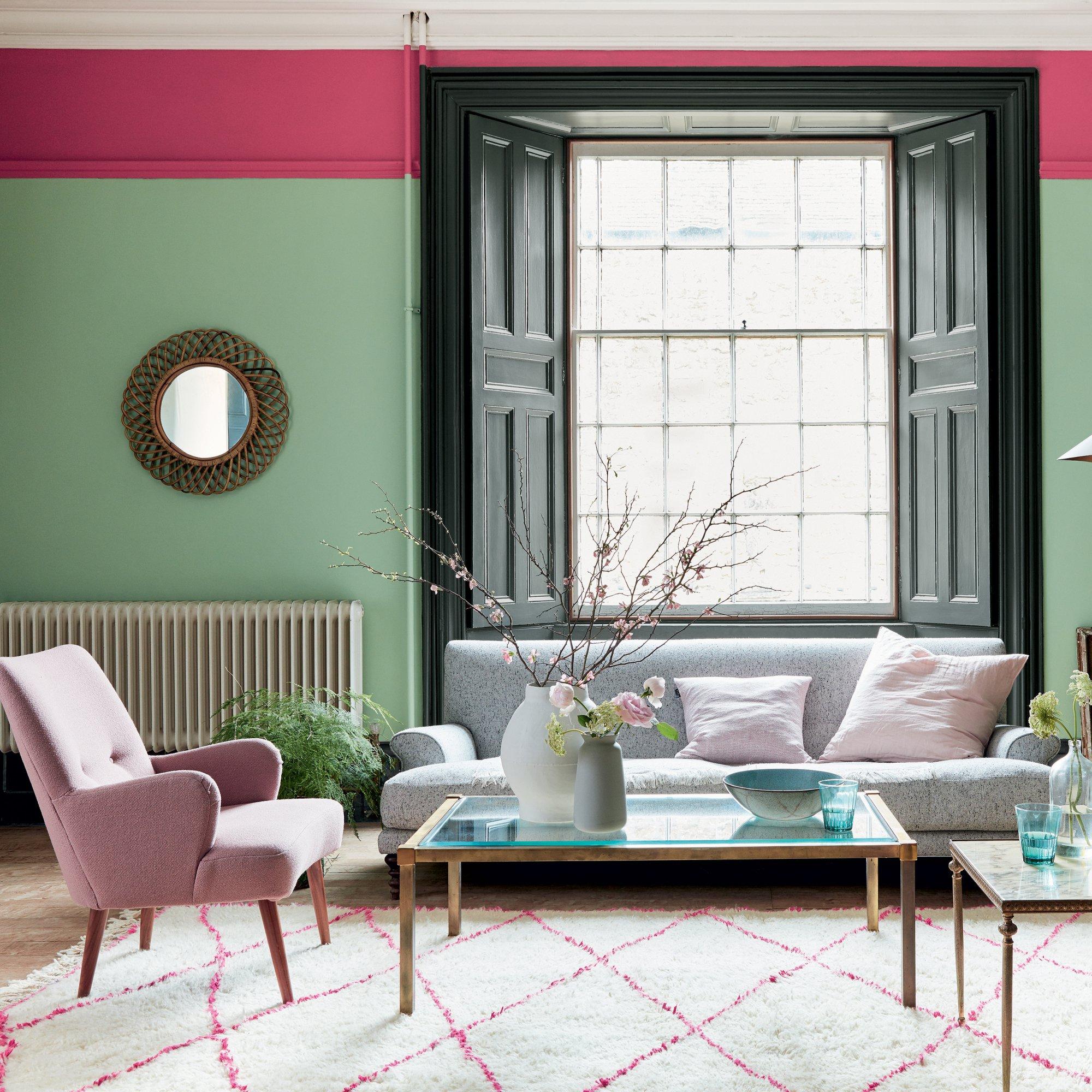 peinture de salon d couvrez les tendances de l 39 t 2018. Black Bedroom Furniture Sets. Home Design Ideas