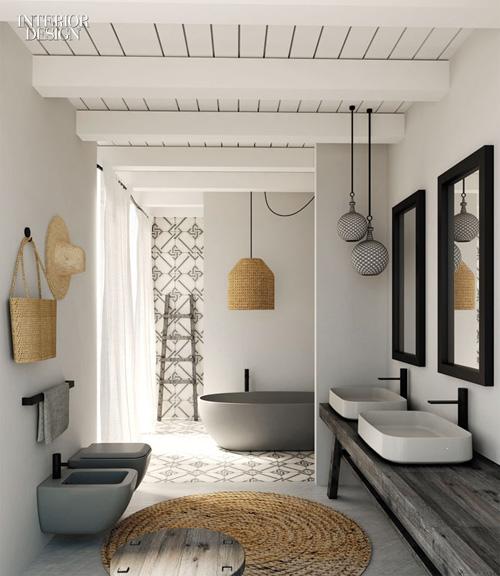 Salle de bains avec bidet