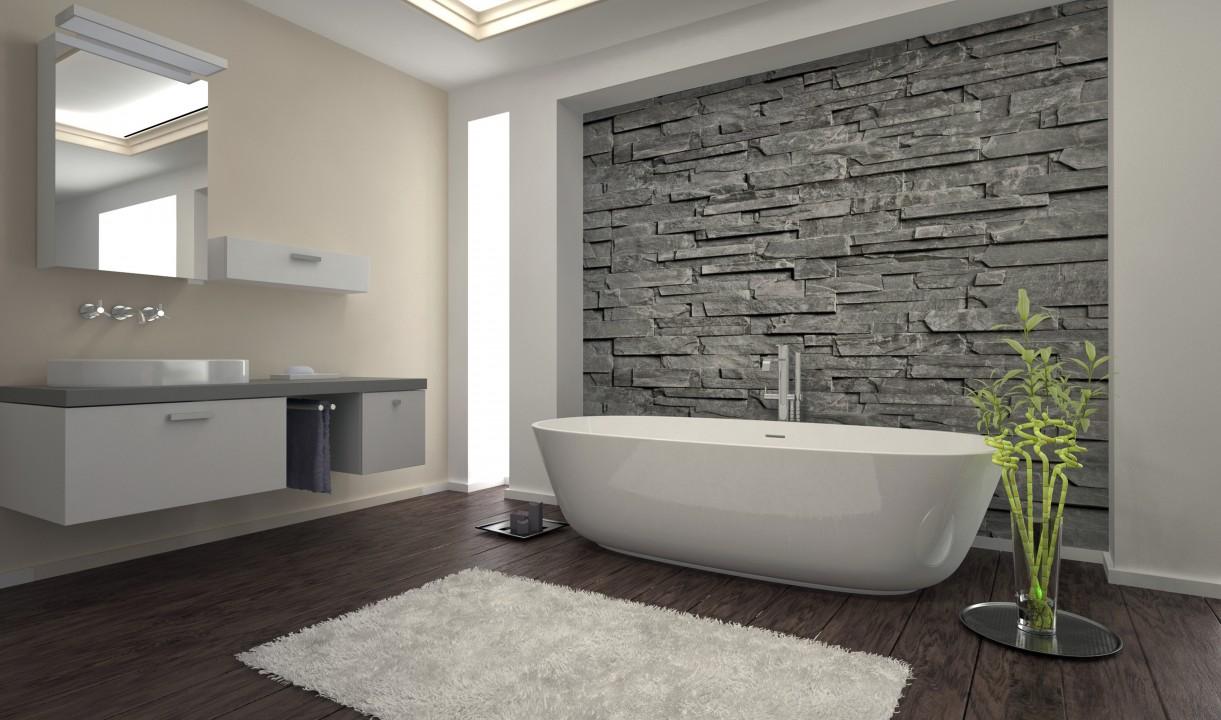 Deco salle de bain exotique: salle de bain et douche. salle de ...