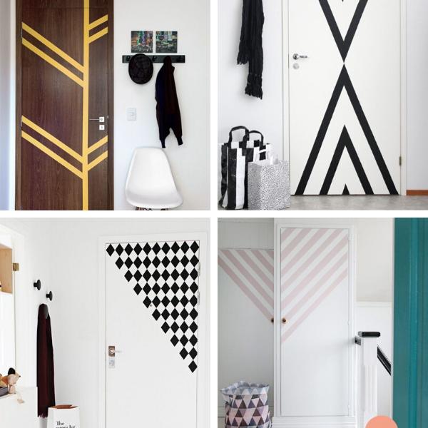 Stickers géométriques portes
