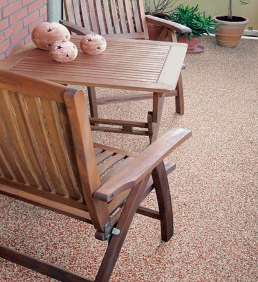 Terrasse r sine et pierres naturelles prix et conseils habitatpresto - Comment percer un evier en resine ...