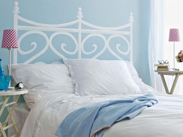 10 id es de t tes de lit sur mesure habitatpresto - Trompe l oeil tete de lit ...