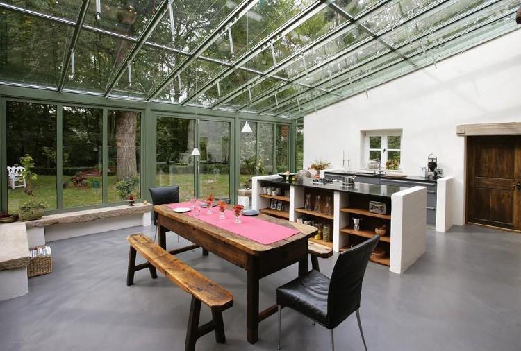 comment cr er une cuisine dans une v randa habitatpresto. Black Bedroom Furniture Sets. Home Design Ideas