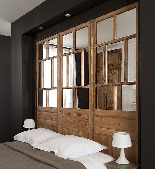 verrière en bois pour cloisonner une chambre