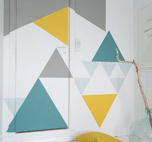 Inspiration peinture murale g om trique habitatpresto for Decoration murale geometrique
